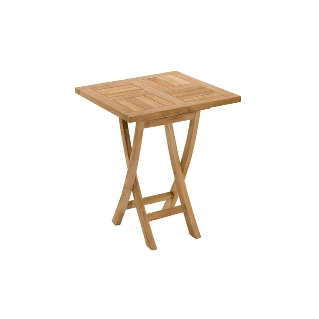 Table carrée pliante en teck 60 cm