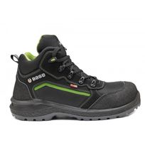 Base Protection - Chaussure Sécurité - T.49 - B0898 Be-powerful Top S3 Wr Srcmi-haute Noir/VERT Fluo