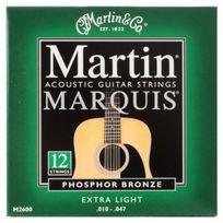 Martin - Marquis M2600 12 Cordes guitare folk Extra Light Bronze / Phosphor