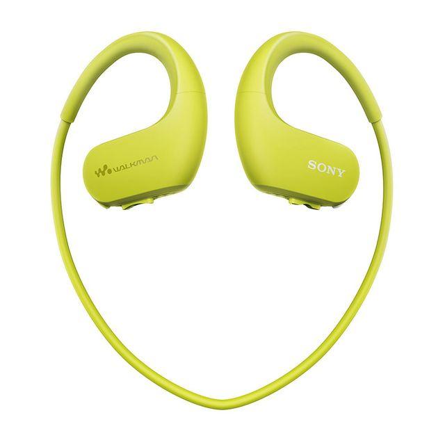 SONY Lecteur Mp3 serre-tête Walkman NW WS413 4Go Citron vert Avec ce walkman Sony, profitez de votre musique tout en pratiquant du sport !