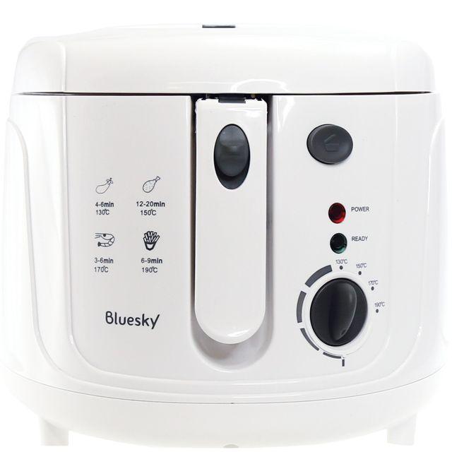 BLUESKY Friteuse BDFP25-16 Friteuse électrique cuve fixe BLUESKY BDFP25-16- Puissance : 1800 watts- Capacité : 2,5 L d'huile ou 0,8 Kg de frites fraîches- Température réglable jusqu'à 190°C- Minuterie : 30 min-