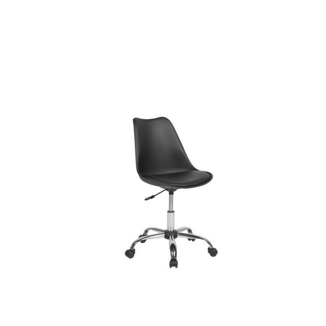 BELIANI Chaise à roulettes noire DAKOTA II - noir