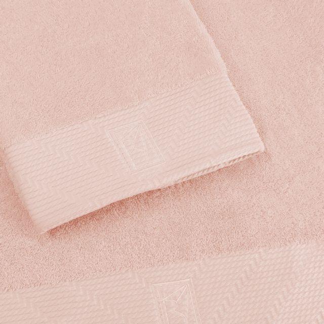 Bailet Serviette de douche uni - Intemporel - quartz rose - Coton peigné 100