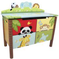 FANTASY FIELDS - Coffre à jouets meuble banc de rangement en bois chambre enfant mixte W-8269A