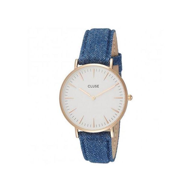 cluse montre femme dor rose cl30029 cadeau id al achat vente montre analogique pas. Black Bedroom Furniture Sets. Home Design Ideas