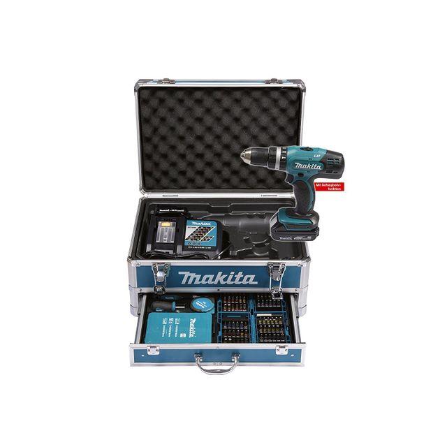 MAKITA - Visseuse-perceuse à percussion Dhp453RFX2 à batteries