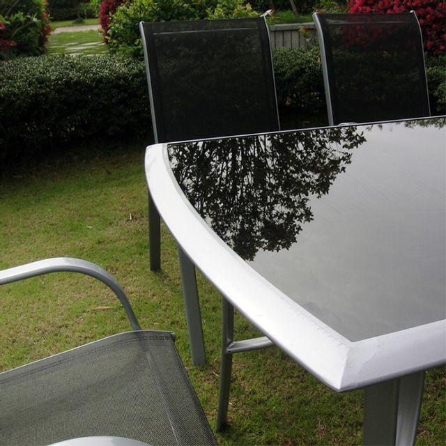 Concept Usine - Alassio 6 : Ensemble table + 6 chaises en acier Gris - 6 places