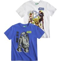 Star Bar - Star Wars-The Clone Wars Garcon Lot de 2 T-shirts