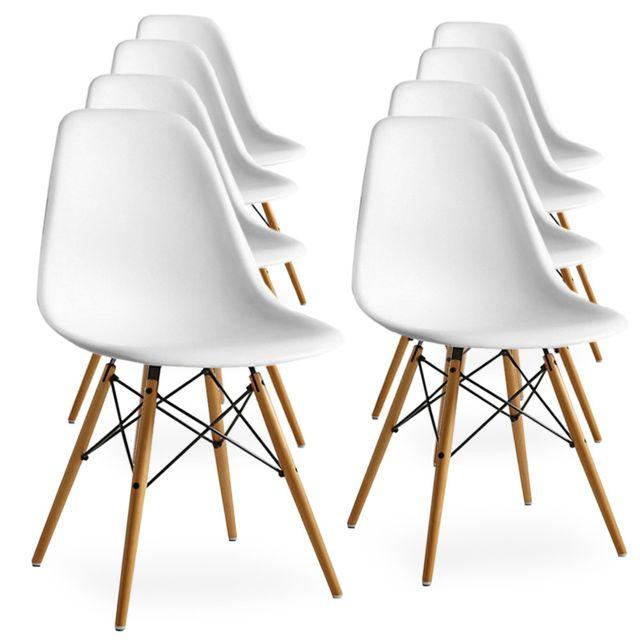 Home Design International Lot de 8 Chaises Scandinaves