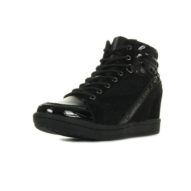 46d44c7b8d1a Versace - Linea Wedge Dis I2 Noir - pas cher Achat   Vente Baskets ...