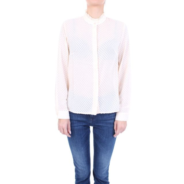 Molly Bracken Femme T1066A19OFFWHITE Blanc Polyester Chemise