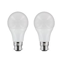 Nityam - Lot de 2 ampoules Standard B22 8W 660 Lumens - Couleur Chaude 3000K - Classe énergétique A