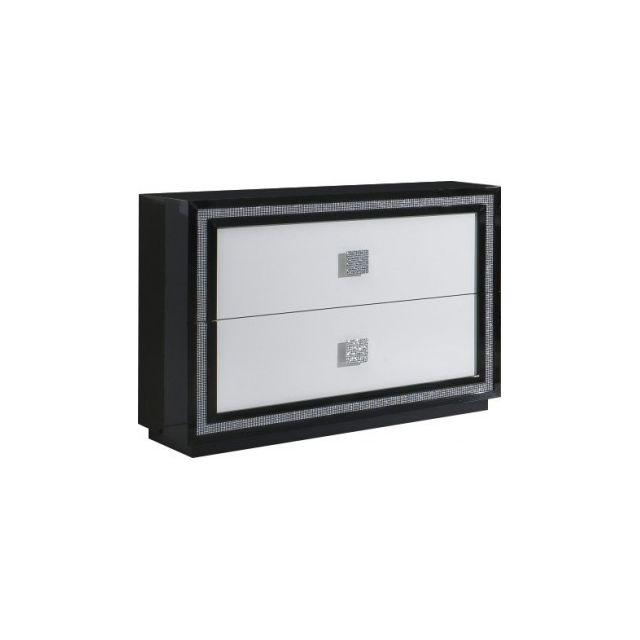 Decodesign Commode design Krystel noir-blanc