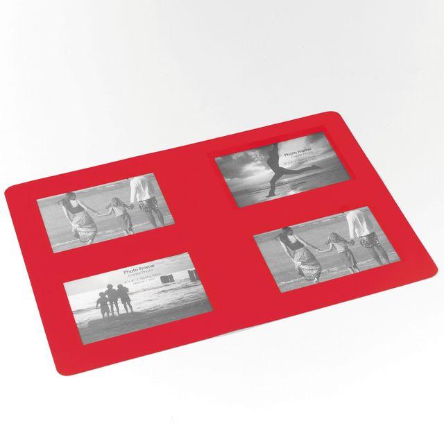 Decorline Cdaffaires Set de table photos rectangle 29 x 42 cm polypropylene souvenirs Rouge