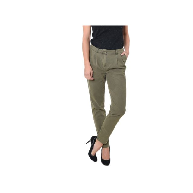 pas cher pour réduction 4a8e7 f497f Kaporal Pantalon Femme coupe Fab Carrot Kaki - Taille - L