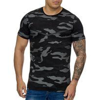 Cabin - T-shirt fashion camouflage T-shirt 3178 noir