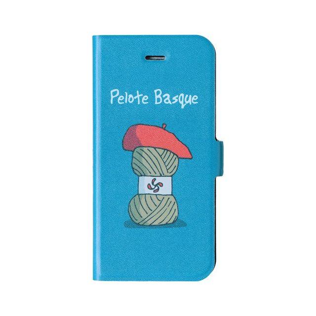 Hihihi - Etui folio bleu Pelote Basque pour iPhone 5 5S - pas cher ... 65a74b20a7be
