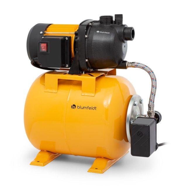 BLUMFELDT Liquidflow 800 Pompe de jardin 800W , hauteur de refoulement 46m , débit 3000 l/h max réservoir inox 19 litres
