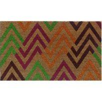 Vente-unique - Paillasson à motifs Flechy en fibres de coco - 45 75cm