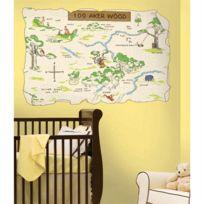 Roommates - Sticker la foret des reves bleu Winnie l'Ourson Disney