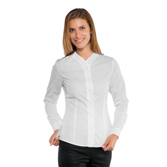 650959f8440b Isacco - Chemise blanche de service pour Femme Stretch Confort - pas ...