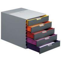 Durable - Module de 5 tiroirs classement varicolor