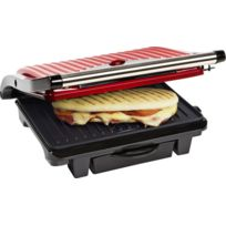 Bestron - Gril à Panini/Viande Hot Red Asw113R Rouge