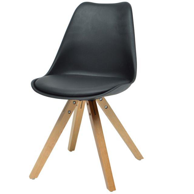 Last Meubles Lot de 4 chaises Lina noir