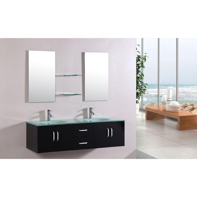 Rocambolesk magnifique meuble salle de bain complet 39 europe 39 2 vasques 2 miroirs pas cher - Meuble salle de bain complet ...