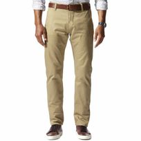 Dockers - Pantalon Alpha Khaki Original Slim Tapered en twill beige