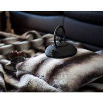 Comptoir Des Toiles - Coussin fausse fourrure loup gris noir 40x40cm Sweet Home