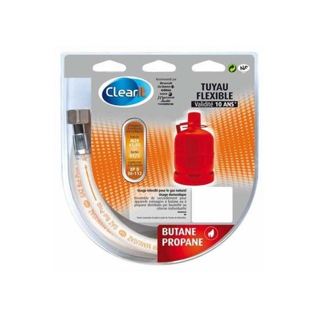 Fagor Tuyau gaz butane-propane 1,5m validité 10 ans, pour cuisiniere ou table de cuisson