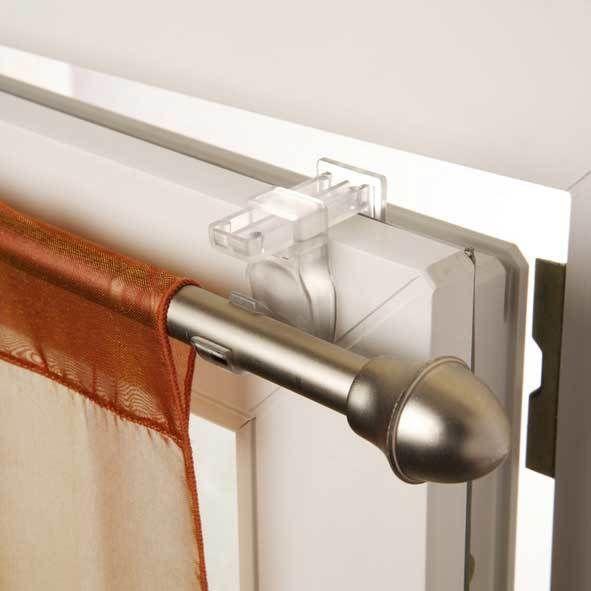 Madecostore - Support auto-serrant pour barres et tringles à rideaux Access