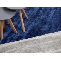 Beliani - Tapis rectangulaire - tapis en viscose - gris clair - 80x150 cm - Gesi