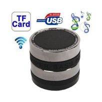 Yonis - Mini enceinte bluetooth universelle kit mains libres basse Noir