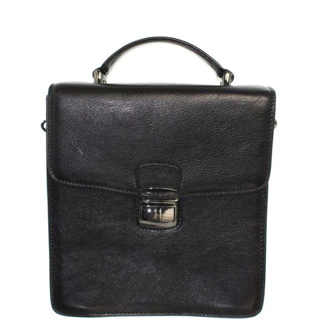 b8738ac77a Arthur Et Aston - Sacoche en cuir ref_ast39311-A-Noir - pas cher Achat /  Vente Besaces et bandoulières - RueDuCommerce