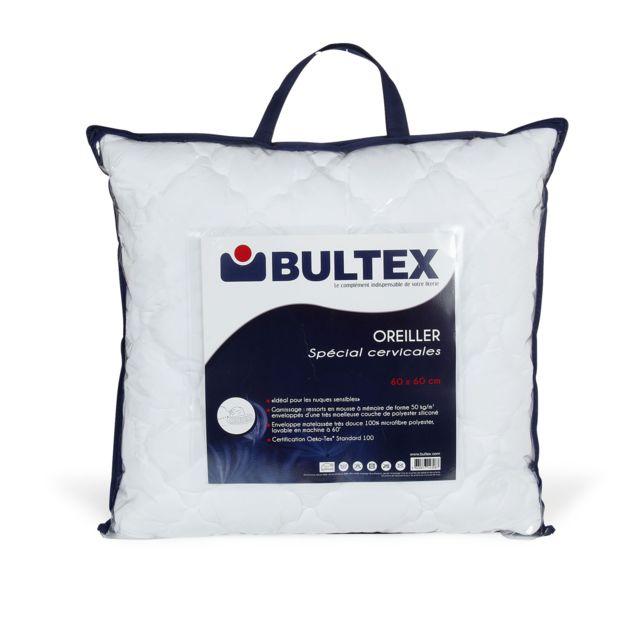 alin a sp cial oreiller 60x60cm bultex sp cial cervicales pas cher achat vente oreillers. Black Bedroom Furniture Sets. Home Design Ideas
