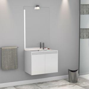 meuble salle de bain simple vasque proline 60 blanc brillant Résultat Supérieur 15 Unique Meuble Salle De Bain Simple Vasque Stock 2018 Hht5
