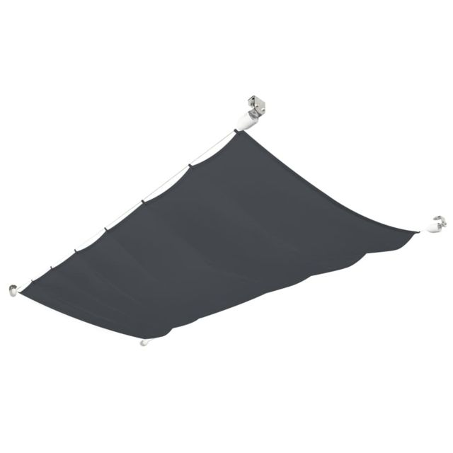 Icaverne - Parasols et voiles d'ombrage reference Auvent de patio Tissu Oxford 140 x 420 cm Gris