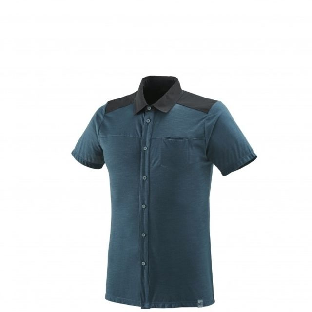 Millet Chemise Cloud Peak Wool Orion Blue