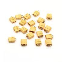 Flug51® - Fl169 - 10 Paires Xt60 Nouveau Plug Circulaire Et Prise Pour Batterie Lipo Rc