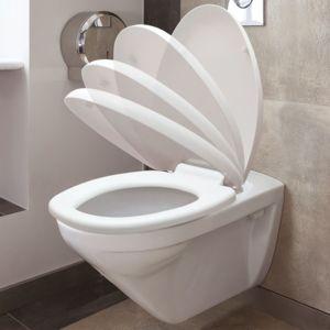 idmarket abattant wc blanc avec frein de chute int gr pas cher achat vente abattant wc. Black Bedroom Furniture Sets. Home Design Ideas