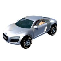 Simm - 50373 Voiture Darda - Audi R8 Gris MÉTALLISÉ