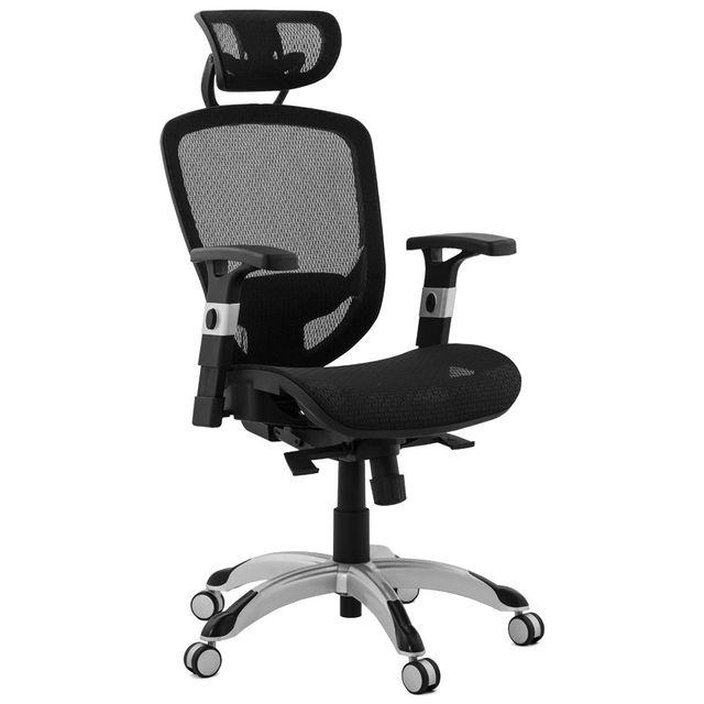 Alterego Fauteuil de bureau ergonomique 'TYPHON' noir