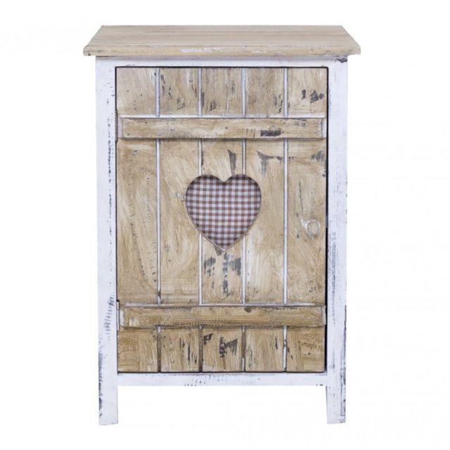 11 sur mobili rebecca chevet table de nuit 1 tiroir love bois marron clair c ur rustique. Black Bedroom Furniture Sets. Home Design Ideas