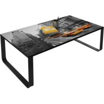 meilleure sélection 6efb0 2480e Table basse décorative 105 cm New York City vintage VINTAGESA