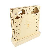 Artemio - Lampe Led en bois Panda et Ours Adorable - Artémio