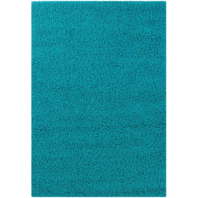 UN AMOUR DE TAPIS - Tapis SHAGGY COOL bleu Tapis Moderne 80 x 150 cm bleu 80 x 150 cm