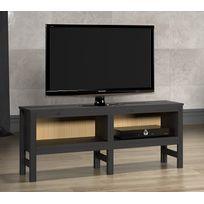 rue du commerce meuble tv bois laqu blanc et verre pas cher achat vente meubles tv hi fi. Black Bedroom Furniture Sets. Home Design Ideas