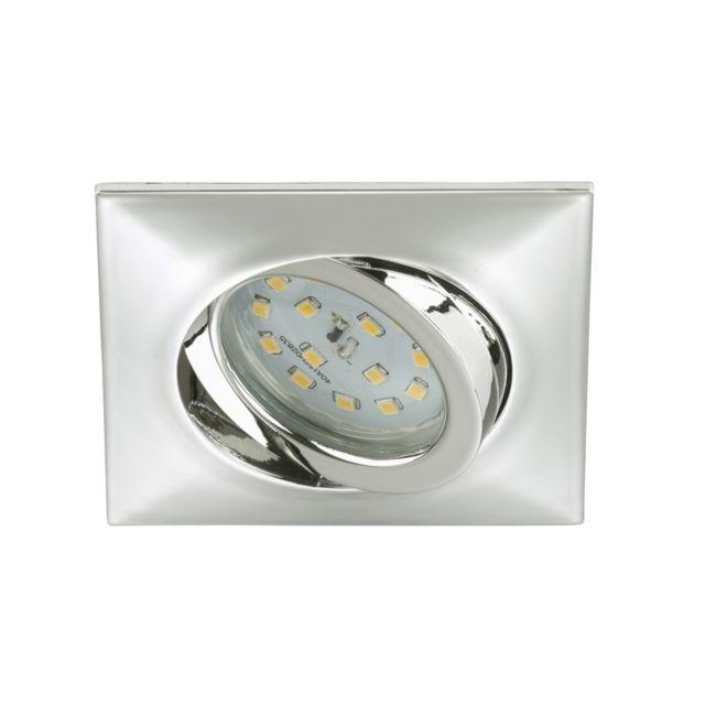 Briloner Leuchten Spot Led Encastrable Orientable Briloner module 5W Ip23 Nickel mat/Verre Chrome Carré